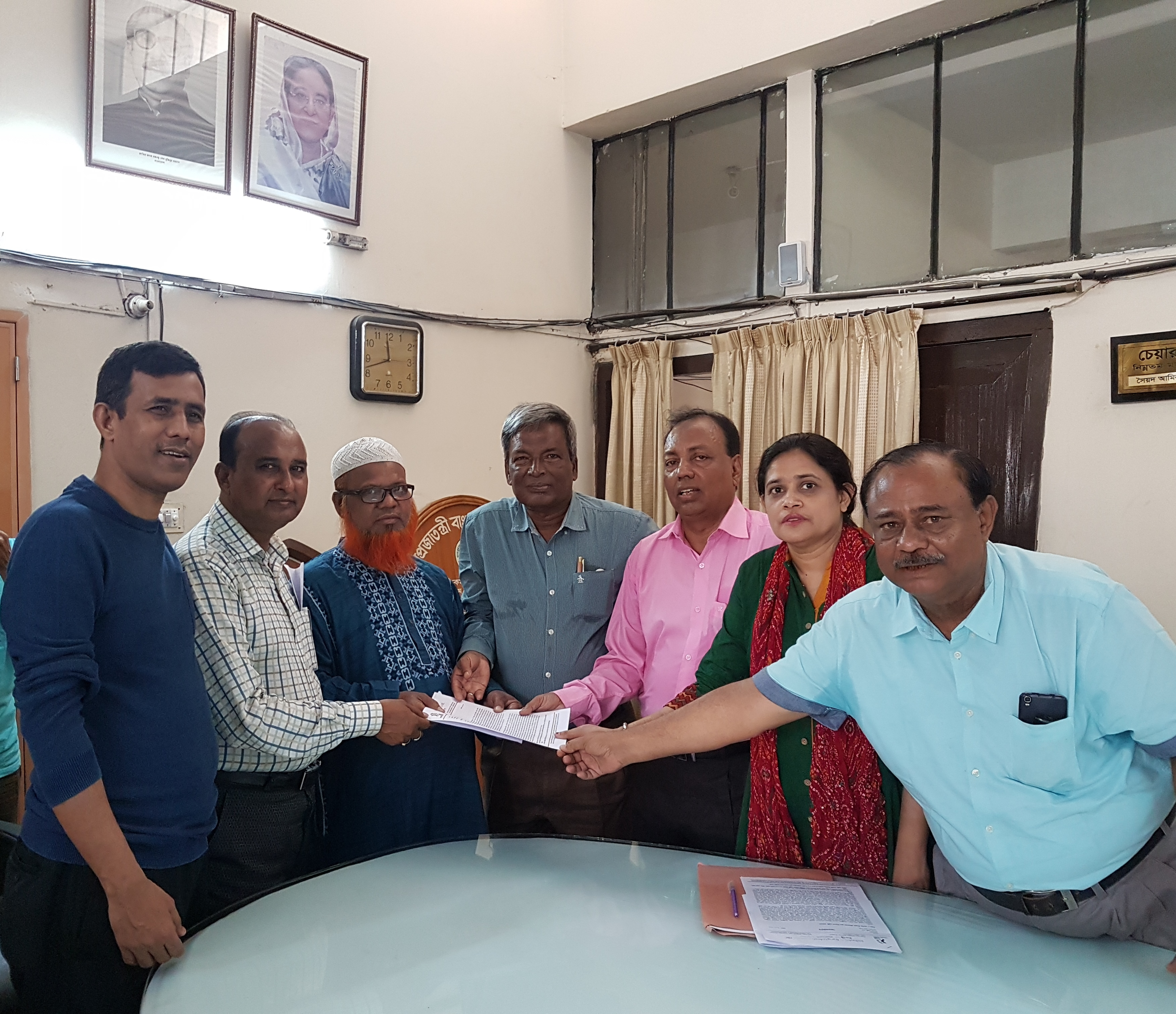 National Garment Workers Federation President handed over the memorandum to the lowest wage board on 28th February,2018