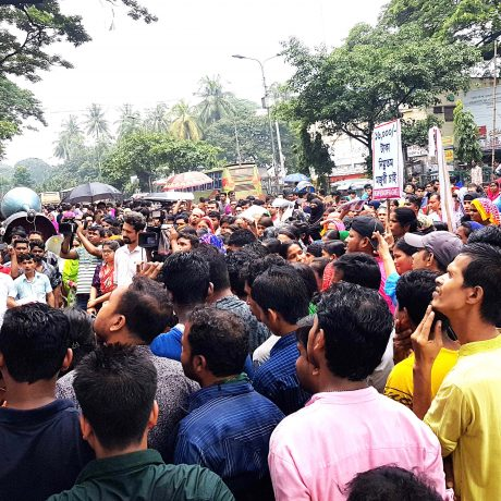 Rally for determining minimum wage of 16000/ taka of garment workers and Stop fun and conspiracy against garment workers wages